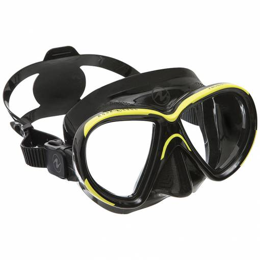 Aqualung Reveal X2 diving mask clear Black Yellow