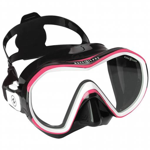 Aqualung Reveal X1 diving mask black pink