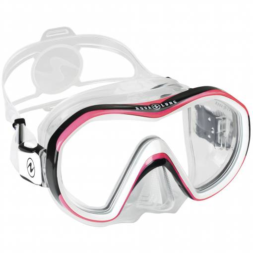 Aqualung Reveal X1 diving mask clear pink white