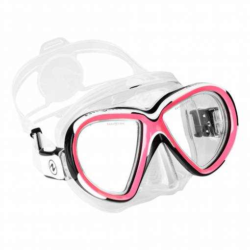 Aqualung Reveal X2 diving mask clear pink white