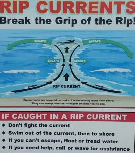 Rip currents warning signs are displayed at most Phuket beaches