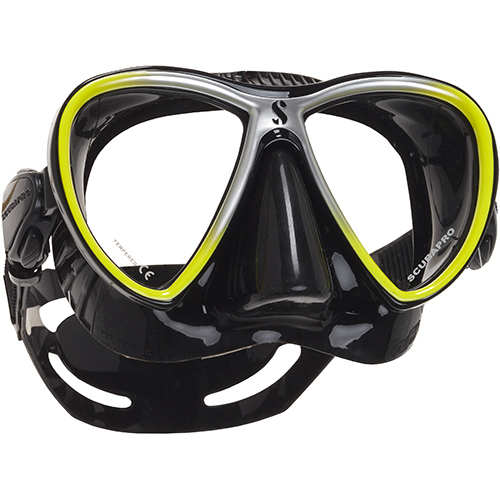 SCUBAPRO Synergy Twin Mask - Black Yellow - X24.713.510