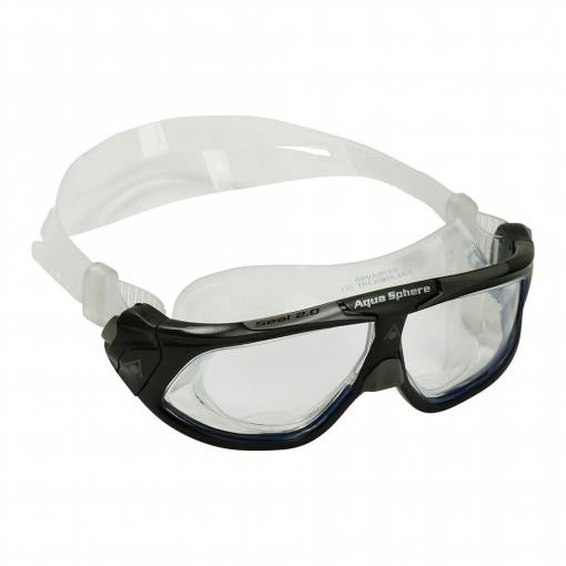 Seal swimming goggles clear lens black and grey frame