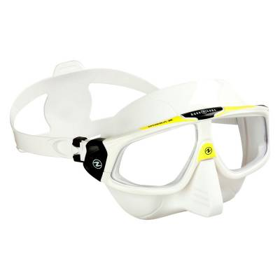 SPHERA X freediving maskWhite Yellow