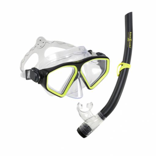 Saturn Combo Black Yellow mask and snorkel set