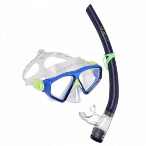 Saturn Combo Black blue mask and snorkel set