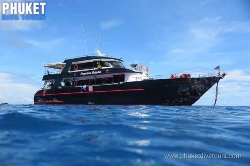 Scuba diving boat phuket Thailand