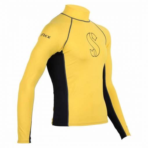 ScubaPro T-Flex Rashguard Men Black and Yellow - X63171