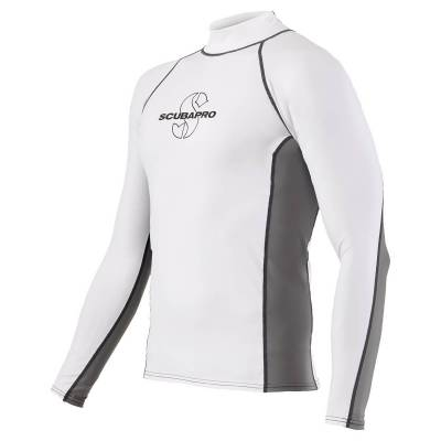ScubaPro T-Flex Rashguard Men White and Grey - X63187