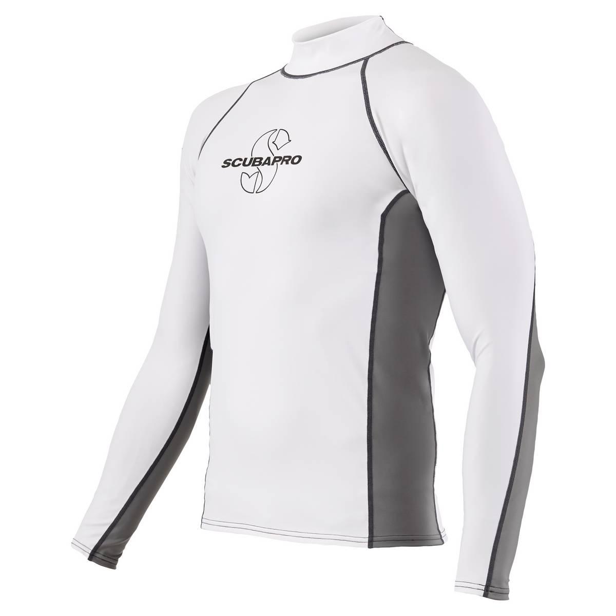 ScubaPro T-Flex Rashguard Men White and Grey - X63187