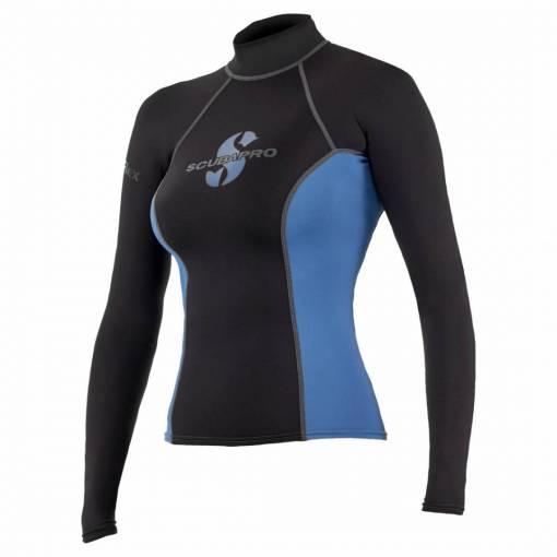 ScubaPro T-Flex Rashguard Women Black and Blue - X63180