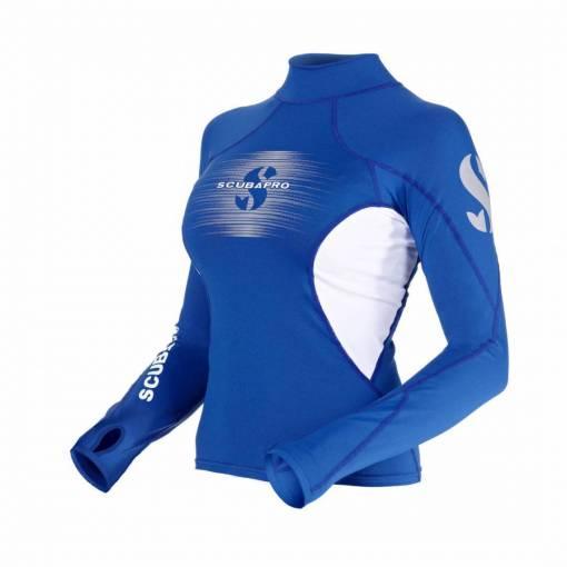 ScubaPro T-Flex Rashguard Women White and Blue - X63188