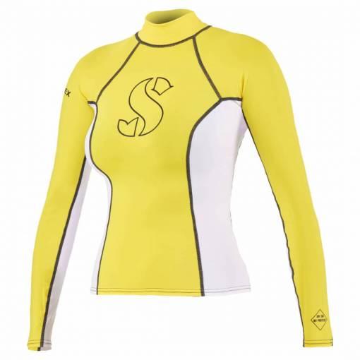 ScubaPro T-Flex Rashguard Women White and Yellow - X63172
