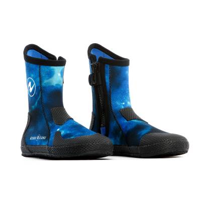 Aqualung Superzip blue camo Scuba diving boots foot protection