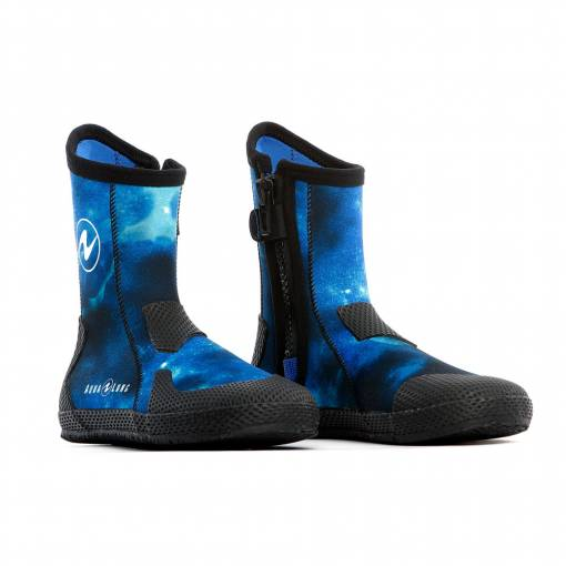 Aqualung Superzip blue camo Scuba diving boots foot protection