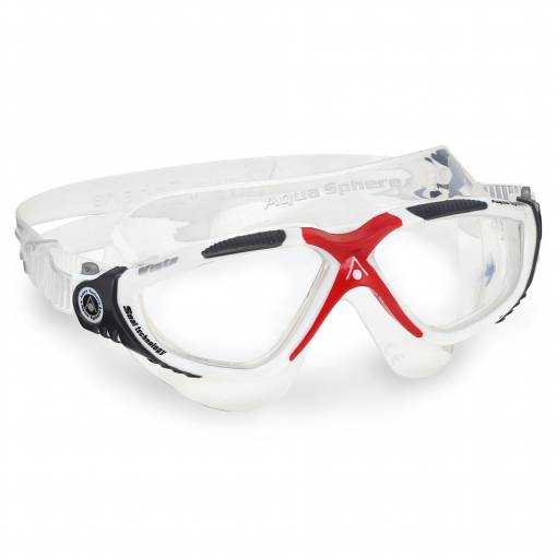 Vista swimming goggles clear white red black