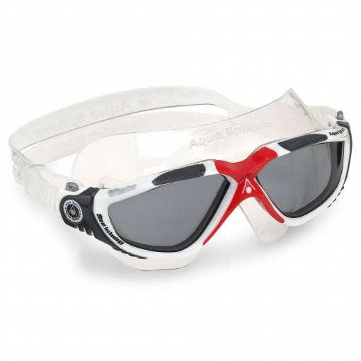 Vista swimming goggles Smoke white red black