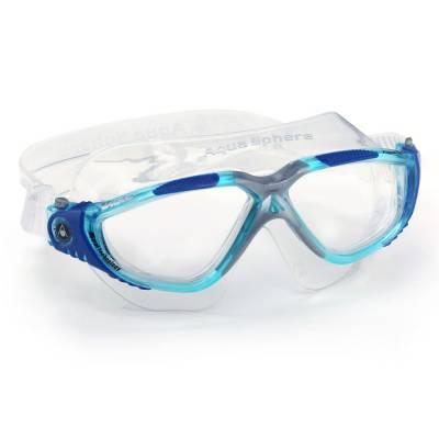 Vista swimming goggles clear Aqua blue silver