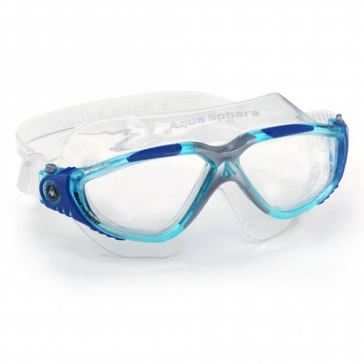 Vista swimming goggles clear Aqua blue silver