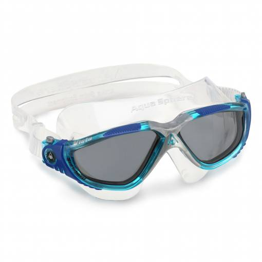 Vista swimming goggles Smoke Aqua Blue Silver