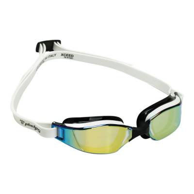 Xceed swimming goggles gold titanium mirror WHITE BLACK