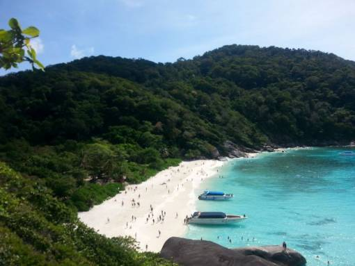 beach view of island #8 similan islands