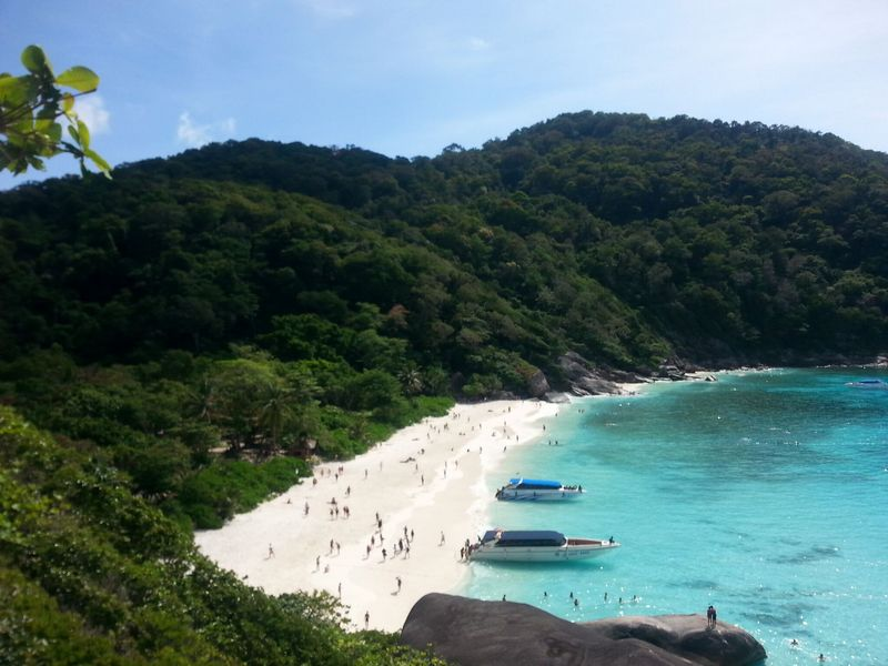beach view of island #8 similan islands