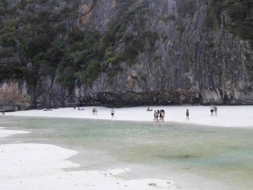 cliff face of maya bay