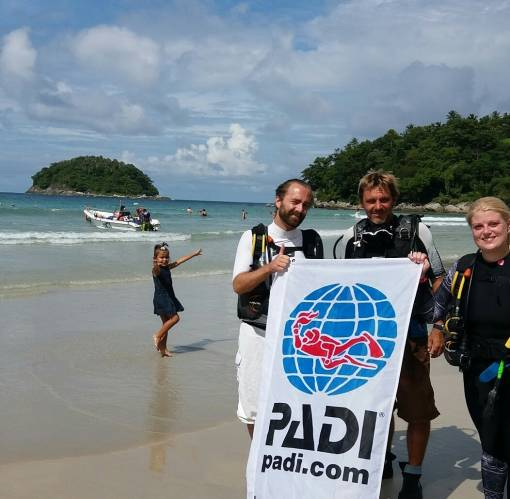 kata beach PADI open water course