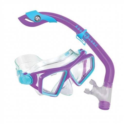 Lanai LX snorkeling Mask Snorkel combo Purple