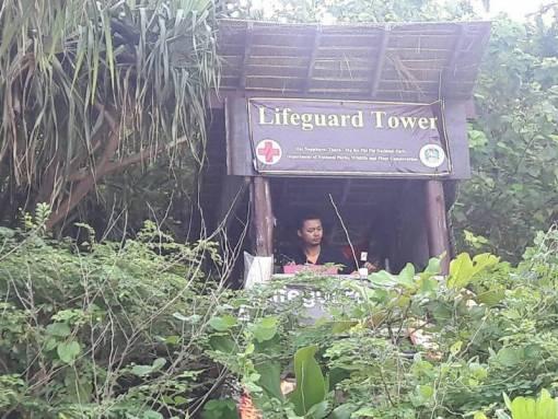 ife guard watch tower at maya bay phi phi island