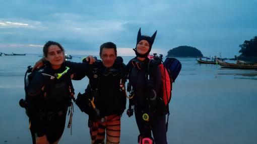 Night diving in Phuket