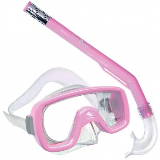 Peeka Childs snorkeling Mask Snorkel combo Pink