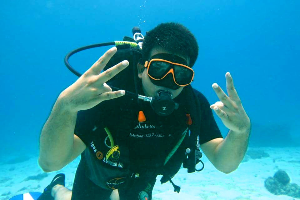 scuba diver course 1 or 2 days free elearning with phuket dive tours