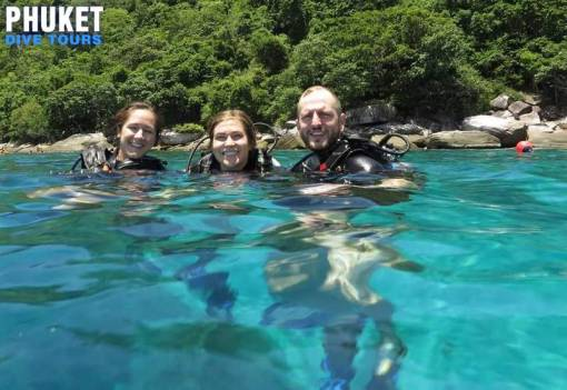 scuba divers at racha noi island