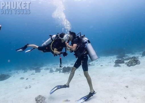 scuba diving for beginners at racha yai island