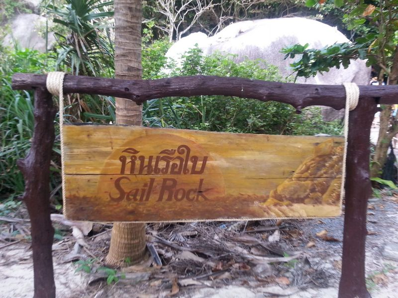 similan islands sign leading to sail rock