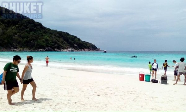 The beach in the morning similans island 8