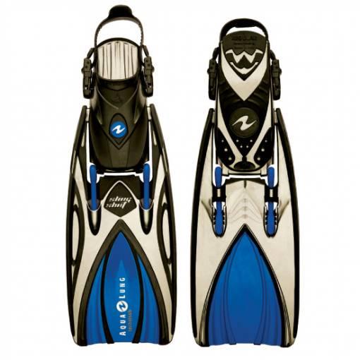slingshot open heal scuba diving fin Blue