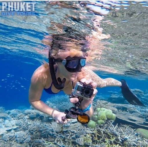 snorkeling in phuket with go pro