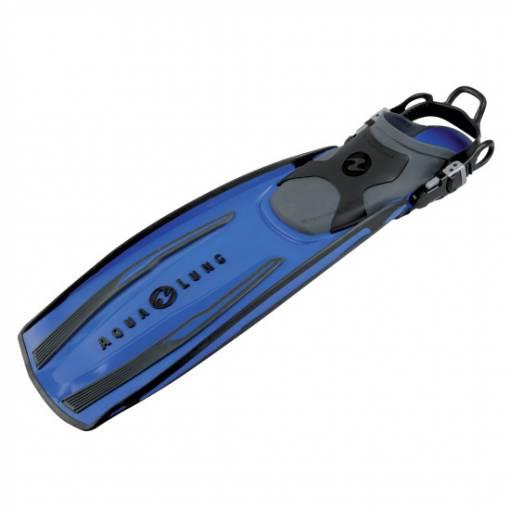Stratos open heal scuba diving fin blue