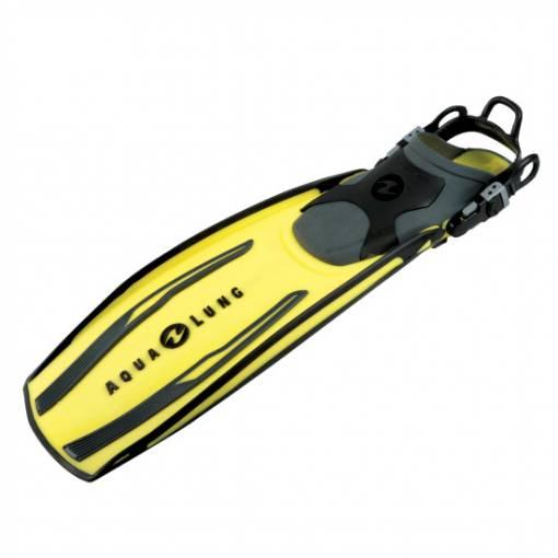 Stratos open heal scuba diving fin yellow
