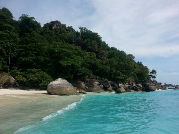 the beach at island 4 similan islands