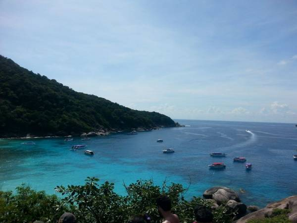 view from the top of sail rock similan islands