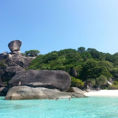 view of similan islands sail rock