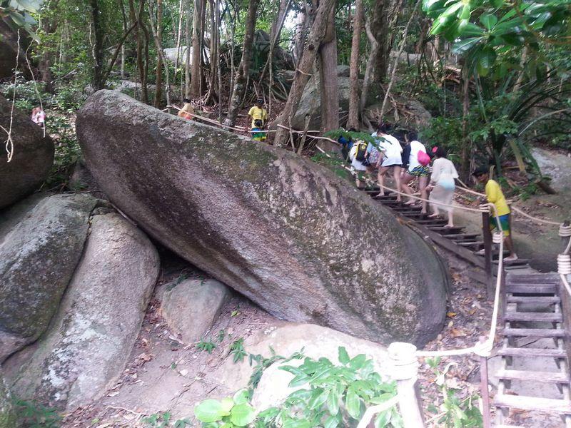 walking up to sail rock at similan islands #8