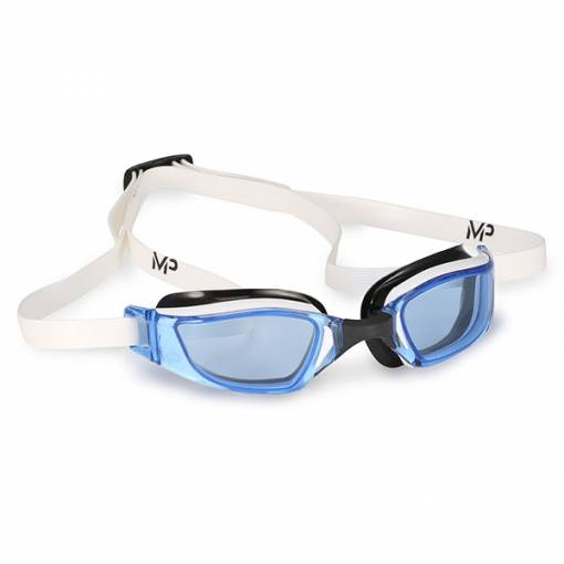Xceed swimming goggles Blue lens white frame