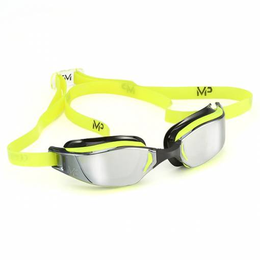 Xceed swimming goggles mirrored lens yellow frame