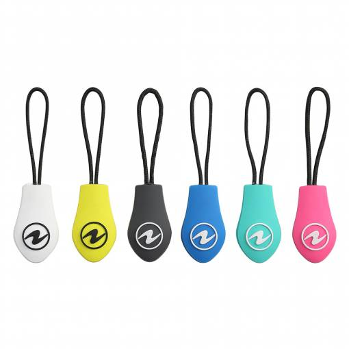 Aqualung wet suit zipper pulls